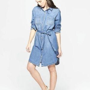 Universal Thread Belted Denim Shirt Dress NWOT